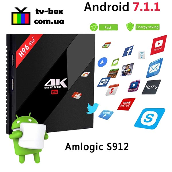 Smart tv box H96 Pro +